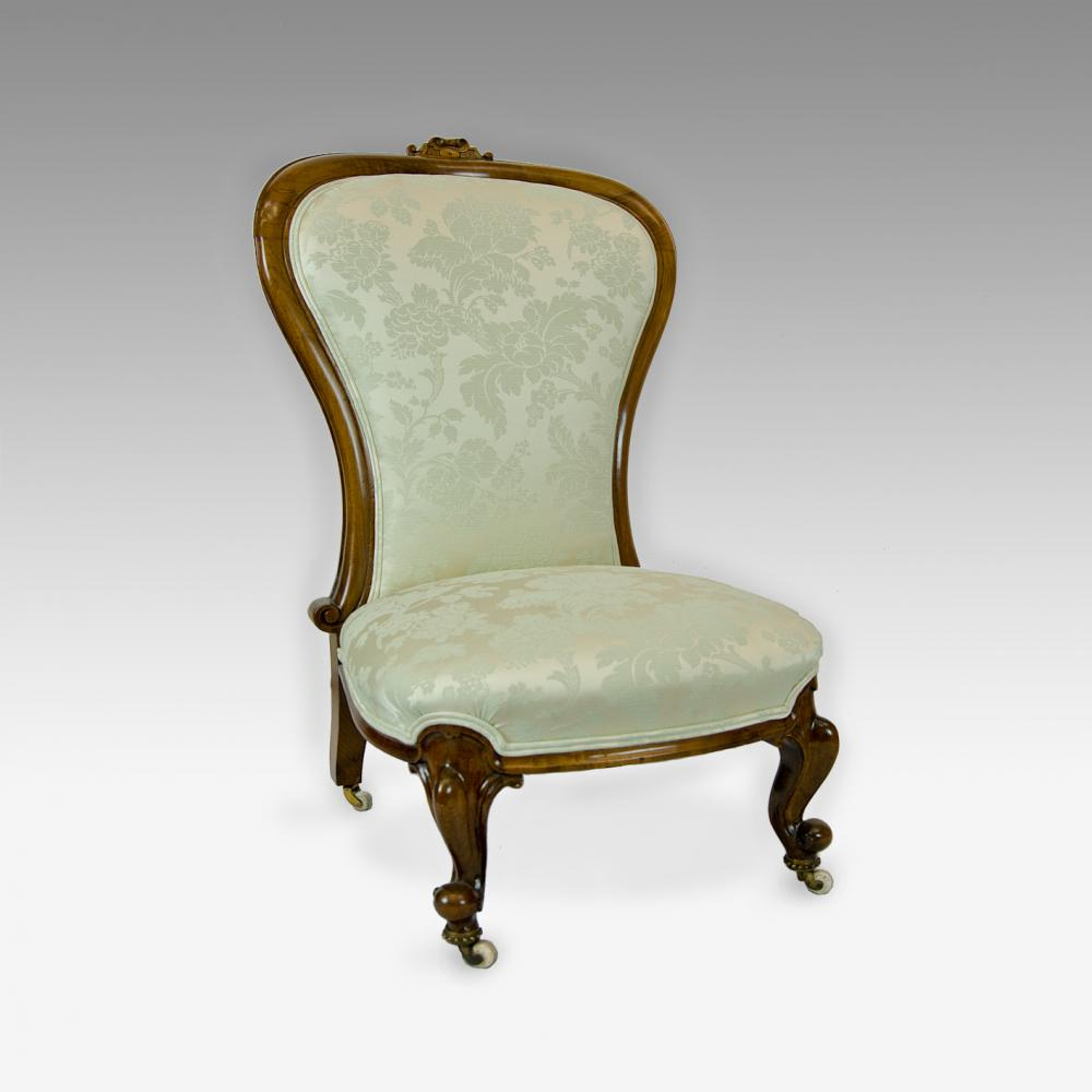 walnut victorian nursing chair