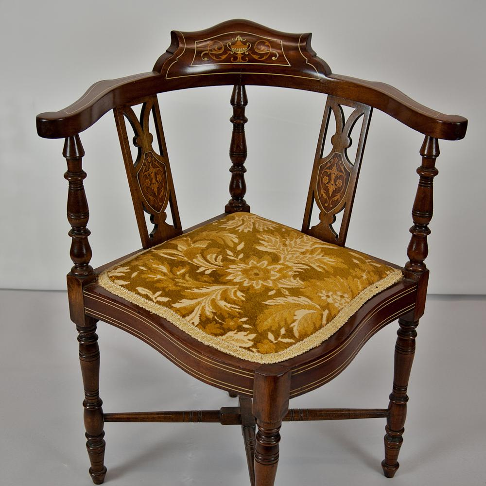 Edwardian corner chair johncowderoyantiquescouk for Antique furnishings
